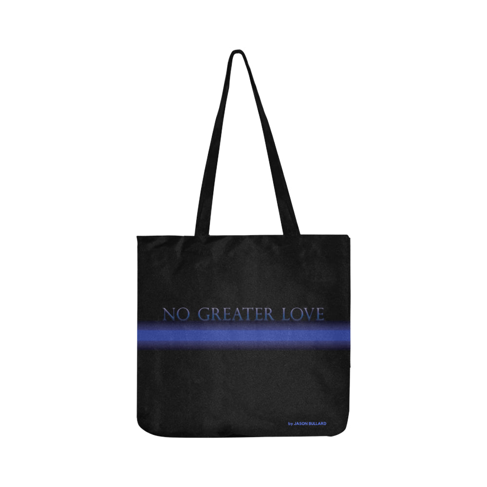 NO GREATER LOVE Lightweight Canvas Tote Bag - Nice & Cool