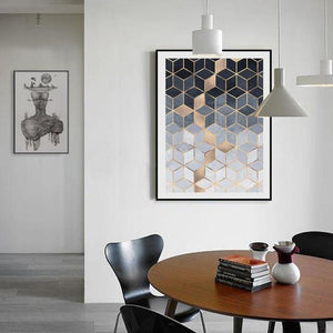 Cubic Illusions Wall Art Canvas - Nice & Cool