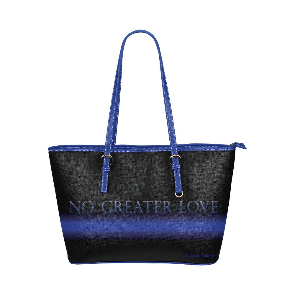NO GREATER LOVE Leather Tote Bag - Nice & Cool
