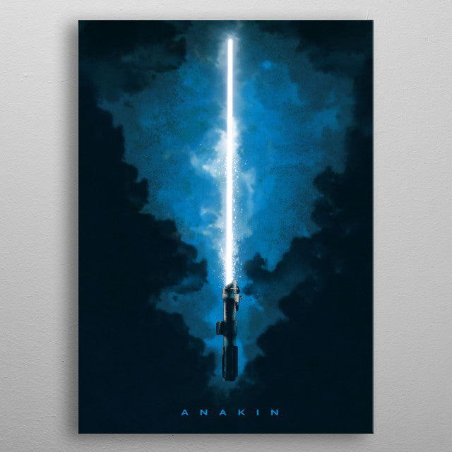 Anakin Lightsaber Print On Metal - Nice & Cool