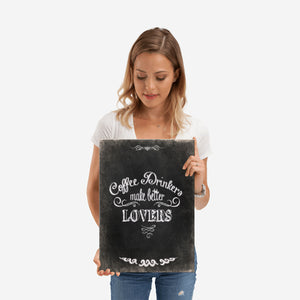 COFFEE LOVERS - VINTAGE QUOTE - Nice & Cool
