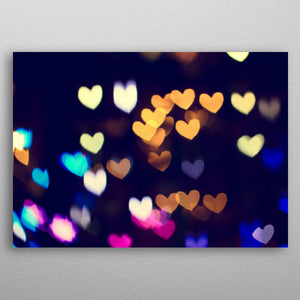 Colorful Hearts Bokeh Vintage - Nice & Cool