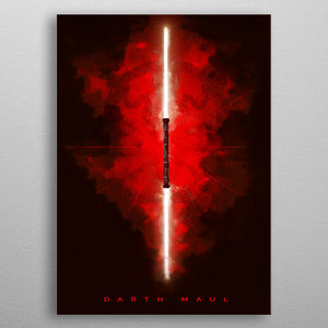 Darth Maul Lightsaber Print On Metal - Nice & Cool