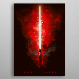 Darth Vader Lightsaber Revenge of the Sith Print On Metal - Nice & Cool