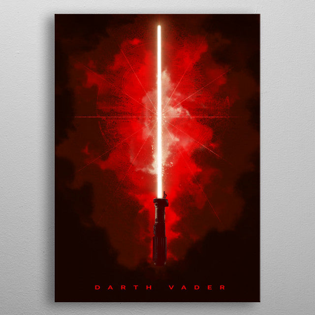 Darth Vader Lightsaber Print On Metal - Nice & Cool