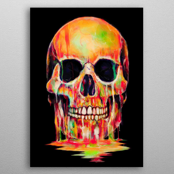 Dye Out - Skull Drip With Colors