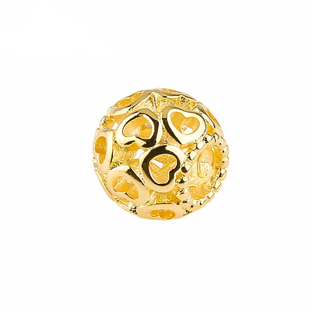 Golden Hearts Bead for Charm Bracelets - Nice & Cool