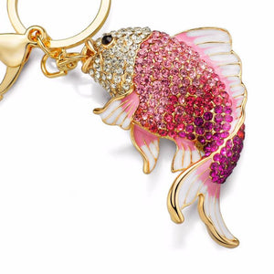 Exquisite Enamel Crystal Fish Keychain - Nice & Cool