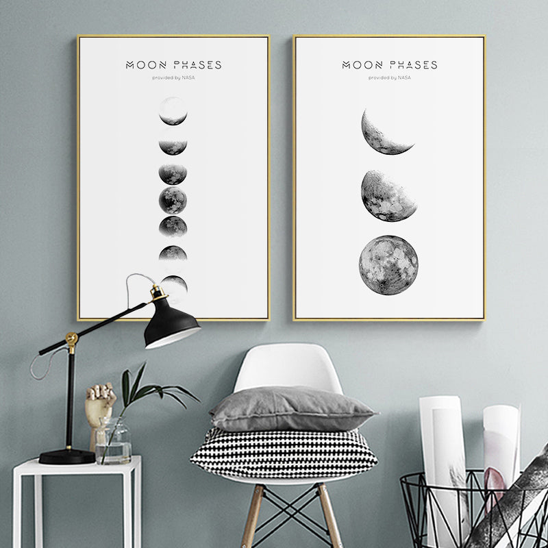 Moon Phases Wall Art Canvas - Nice & Cool