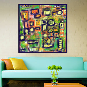 Abstract Square Wall Art Canvas - Nice & Cool