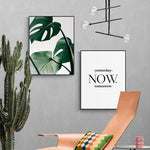 Modern Green & Motivational Wall Art Canvas - Nice & Cool