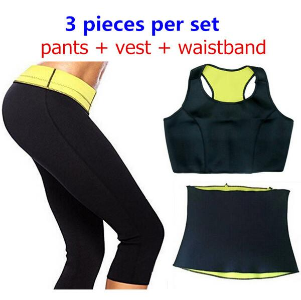 Neoprene Slimming Set - Pants, Waistband and Top - Nice & Cool