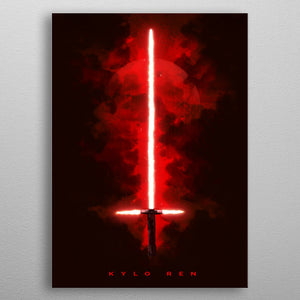 Kylo Ren Lightsaber Print On Metal - Nice & Cool