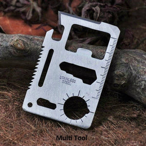 Mini Survival Multi-Tool Card 11 in 1 - Nice & Cool