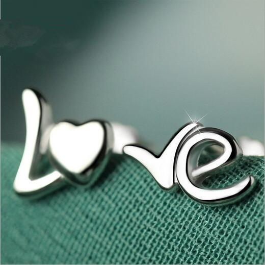 LOVE Stud Silver Earrings - Nice & Cool
