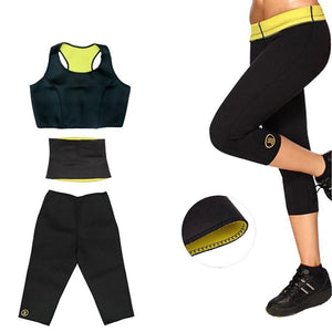 Neoprene Shaper Set - Pants, Waistband and Top - Nice & Cool