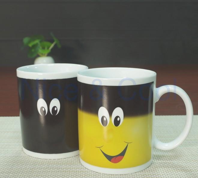 Thermo Morphing Smiling Mug - Nice & Cool
