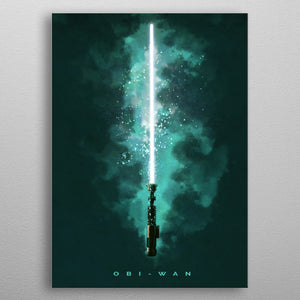 Obi-Wan Lightsaber Print On Metal - Nice & Cool