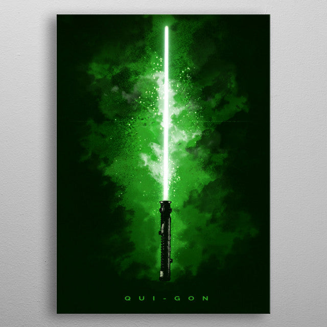 Qui-Gon Lightsaber Print On Metal - Nice & Cool