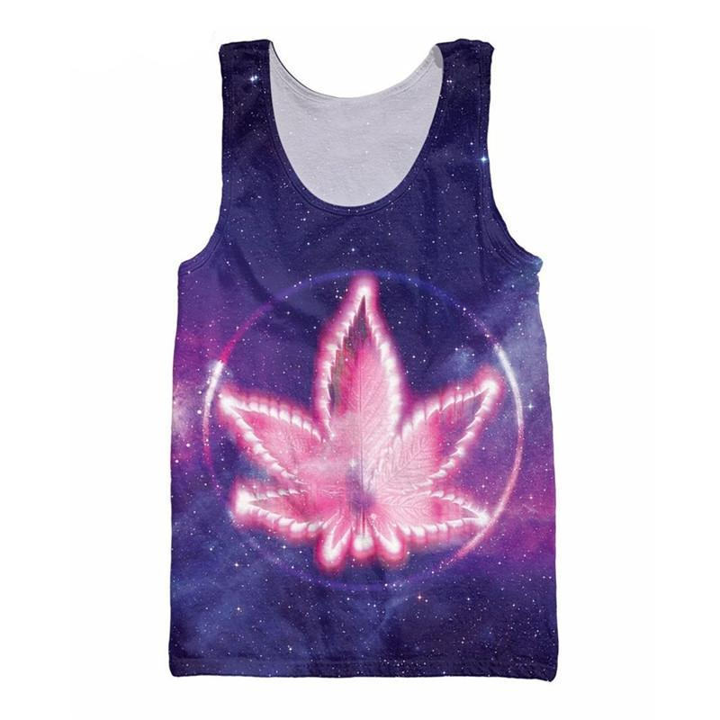 Leaf in Space O-Neck Men's Tank Top - Nice & Cool
