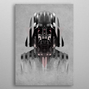 Darth Vader Abstract Print On Metal - Nice & Cool