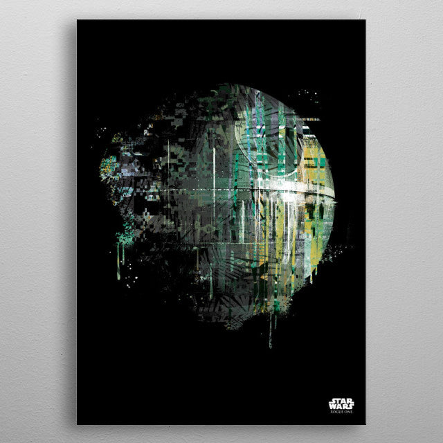 Death Star Print On Metal - Nice & Cool