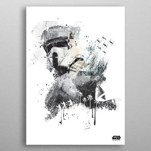 Scarif Trooper Print On Metal