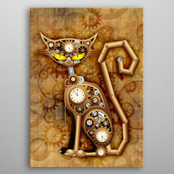 Steampunk Cat Vintage Copper Toy