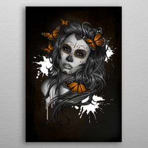Sugar Skull Girl Butterfly