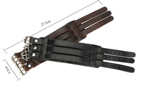 Triple Buckle Genuine Leather Wristband Men's Bracelet - Nice & Cool
