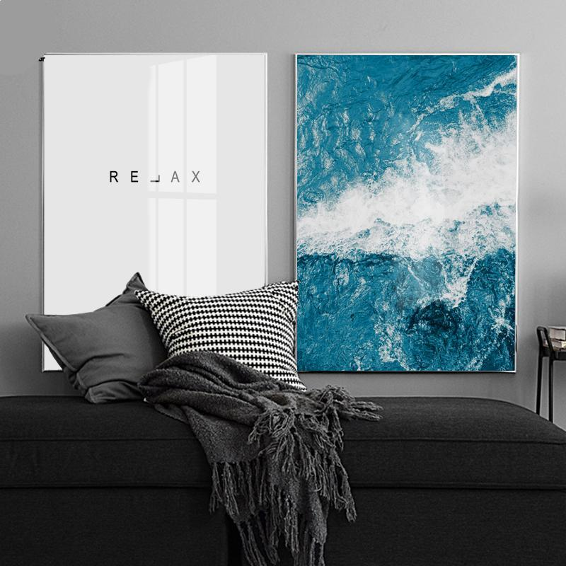 RELAX and Sea Wall Art Canvas - Nice & Cool