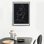 The Kiss - One Line Drawing Minimalist Wall Art Canvas - Nice & Cool