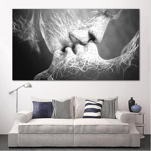 Love Kiss Abstract Wall Art Canvas - Nice & Cool