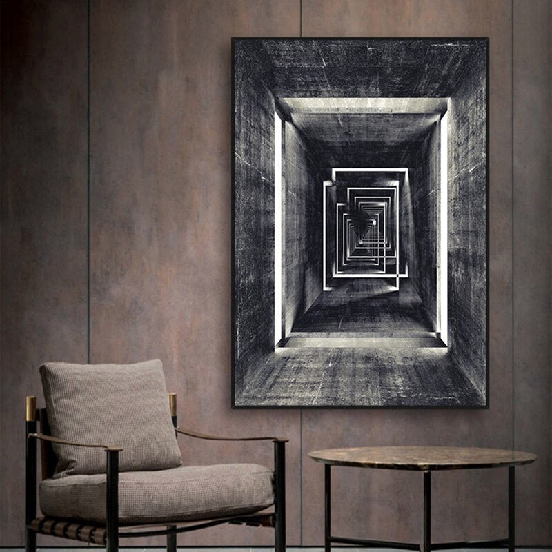 Corridor Abstract Canvas Wall Art