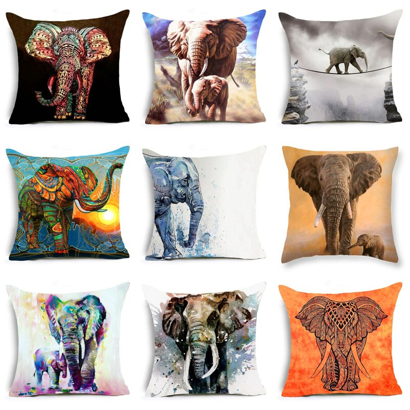 Elephant Art Decorative Pillowcases