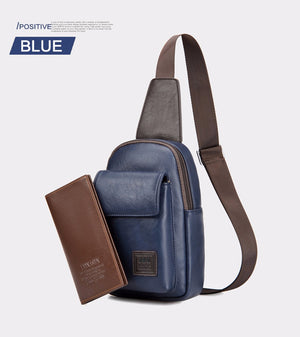 Fashion Retro Eco Leather Men's Crossbody Bag - Nice & Cool