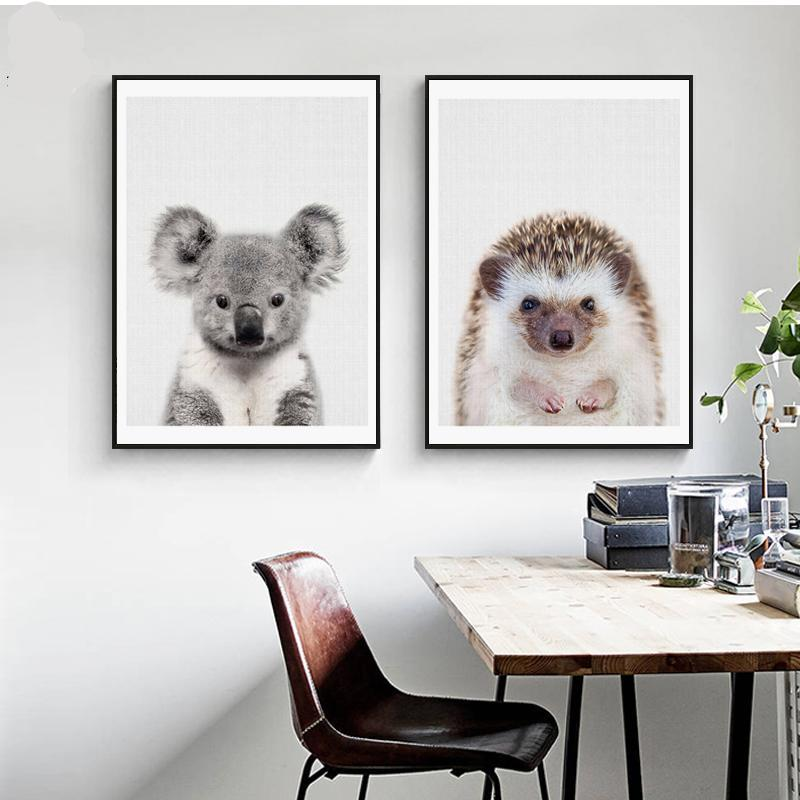 Koala & Hedgehog Wall Art Canvas - Nice & Cool