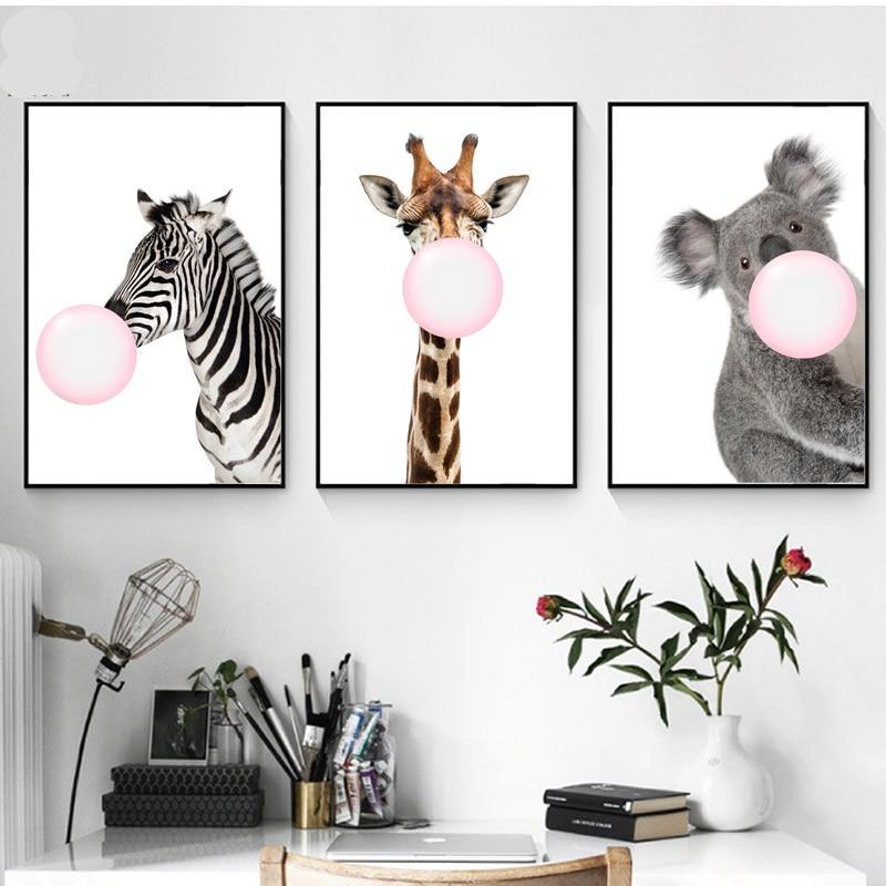 Pink Bubbles In The Wild Wall Art  Canvas - Nice & Cool