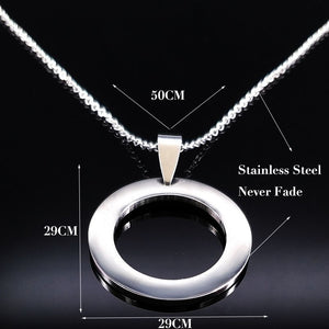 Circle Stainless Steel Necklace - Nice & Cool
