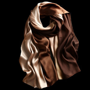 Luxury Silk Color Pairs Women's Scarves - Nice & Cool