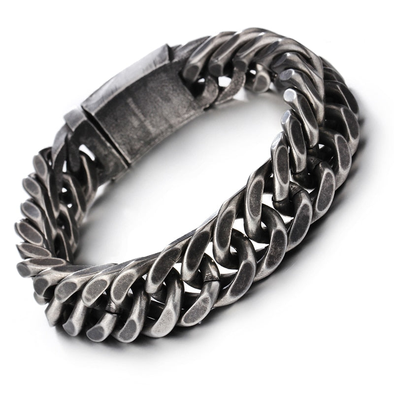 Stainless Steel Thick Chain Men's Bracelet - Nice & Cool