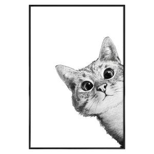 Puzzled Cat Wall Art Canvas - Nice & Cool