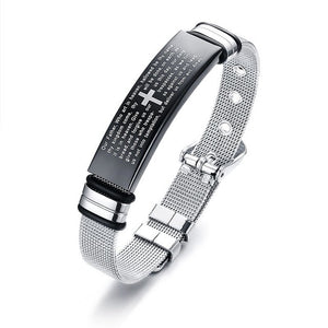 Lord's Prayer Stainless Steel Watchband Women's Bracelet - Nice & Cool