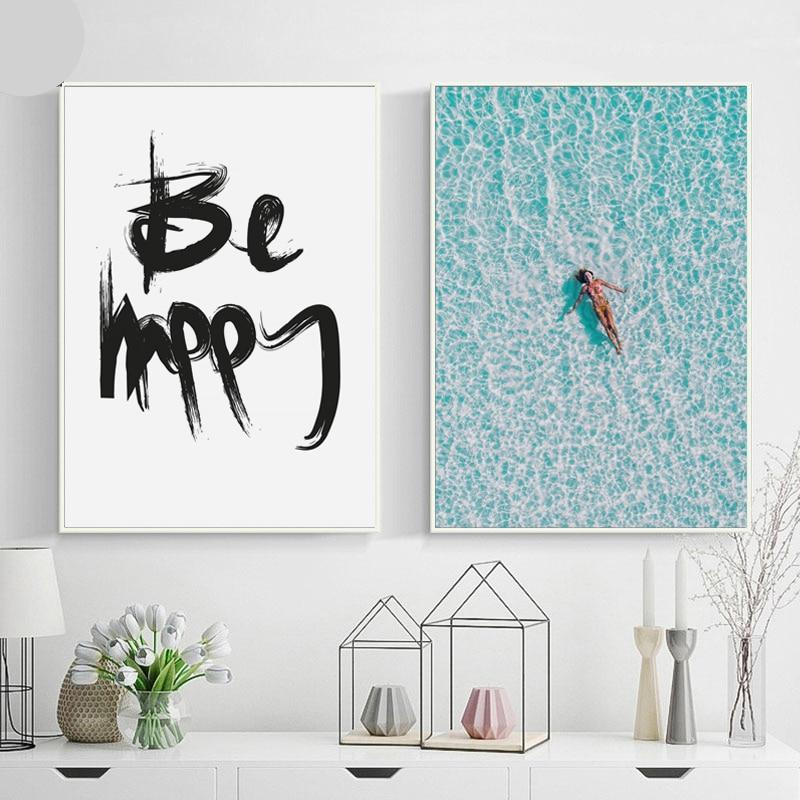 Be Happy! Wall Art Canvas - Nice & Cool
