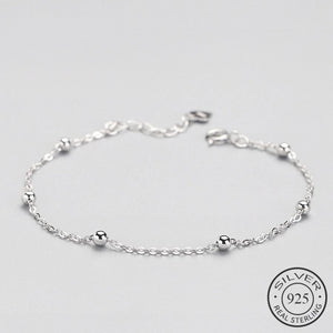 Beads Chain Minimalist Silver Bracelet - Nice & Cool