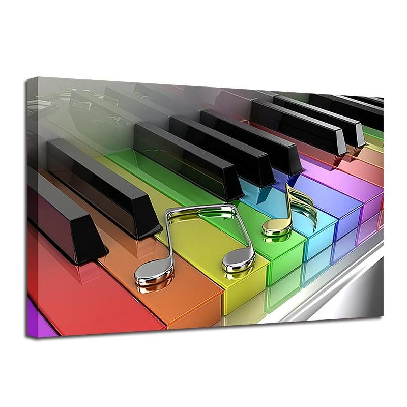 Piano's Colors Wall Art Canvas - Nice & Cool