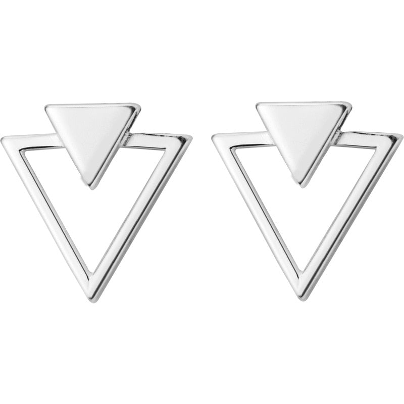 Triangles Silver Stud Earrings - Nice & Cool