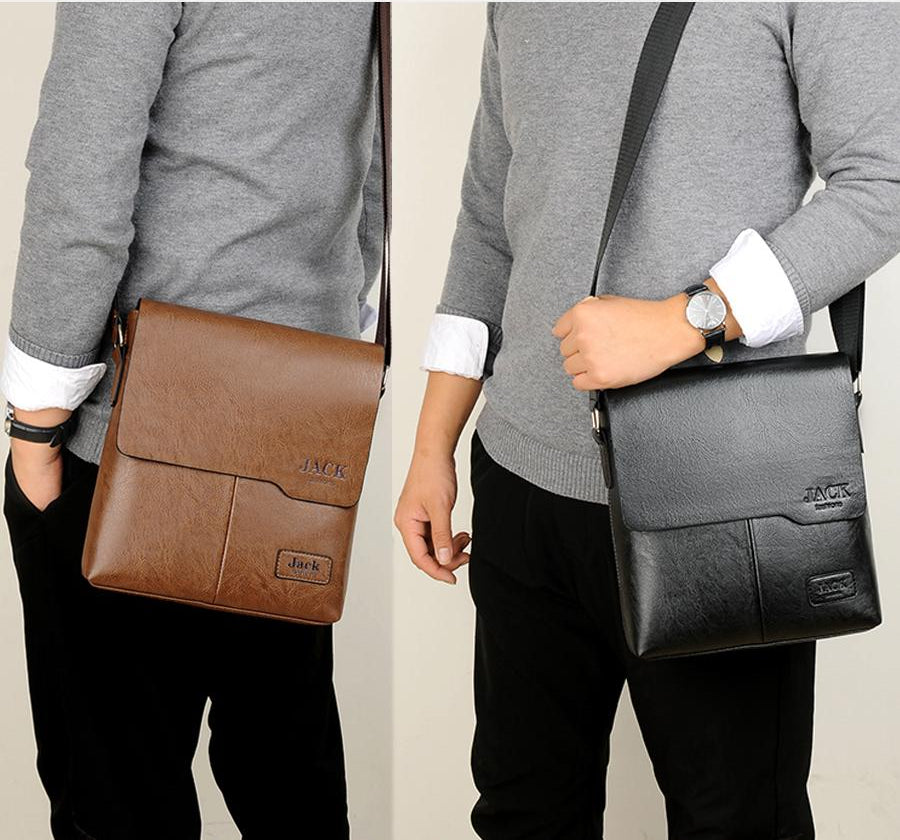 Classic Elegant Eco Leather Men's Shoulder Bag - Nice & Cool