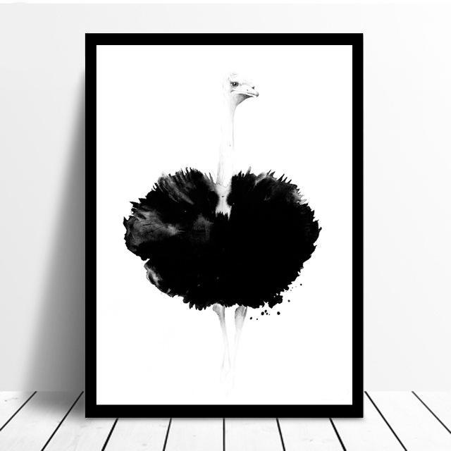 Blooming Ostrich Wall Art Canvas - Nice & Cool
