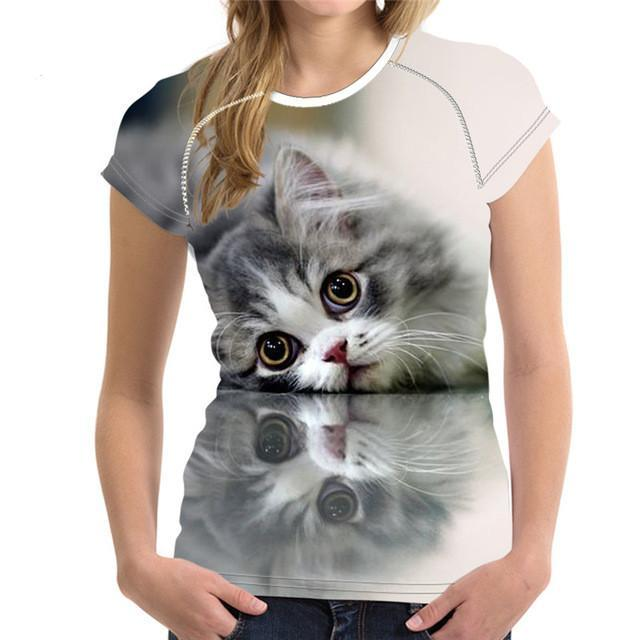 Cutest Kitty Printed Women's T-Shirt - Nice & Cool